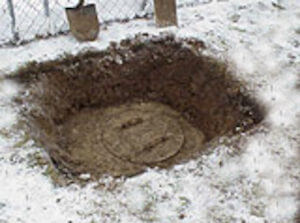Winter Septic Tank Access
